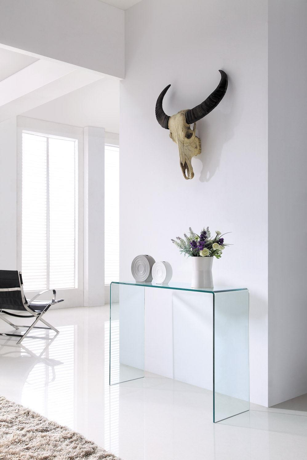 Crystal Glass Console Table Large Free Uk Delivery