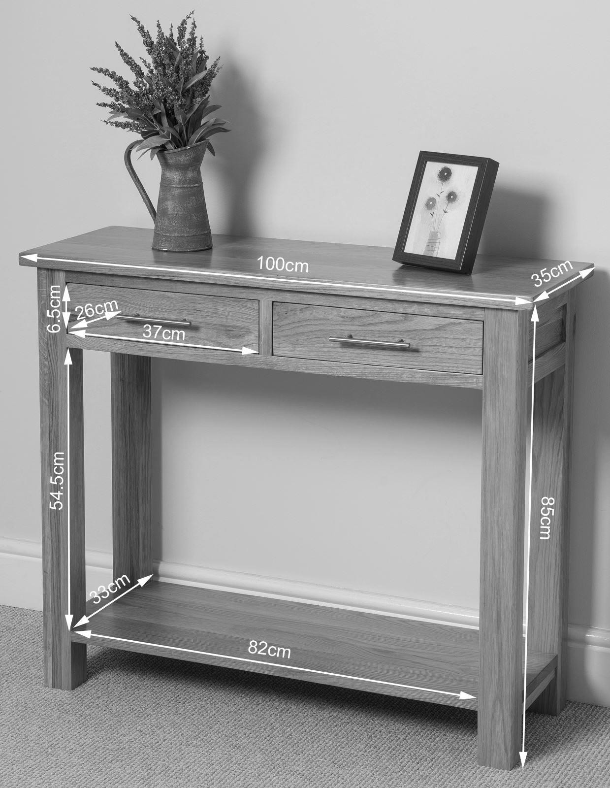 Oslo Solid Oak Console Table