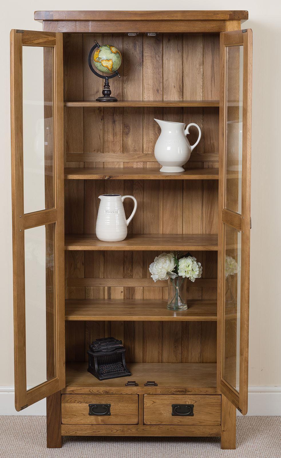 cotswold oak display cabinet modern furniture direct. Black Bedroom Furniture Sets. Home Design Ideas