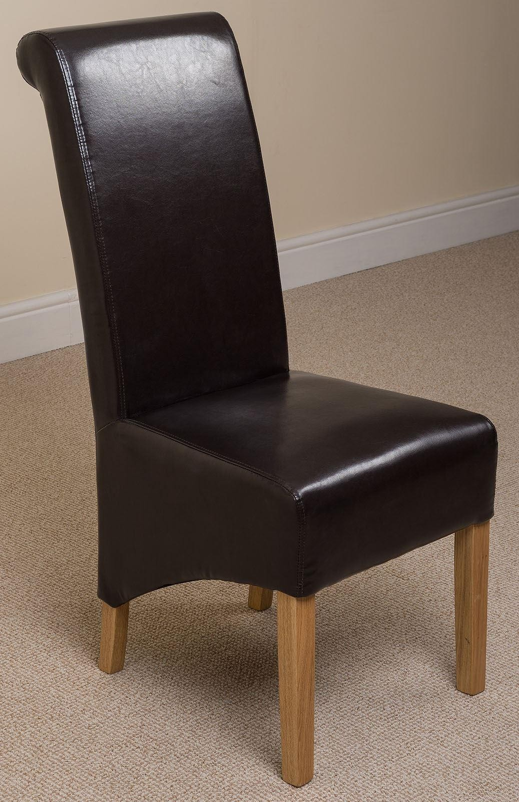 montana dining chair brown leather modern furniture direct. Black Bedroom Furniture Sets. Home Design Ideas