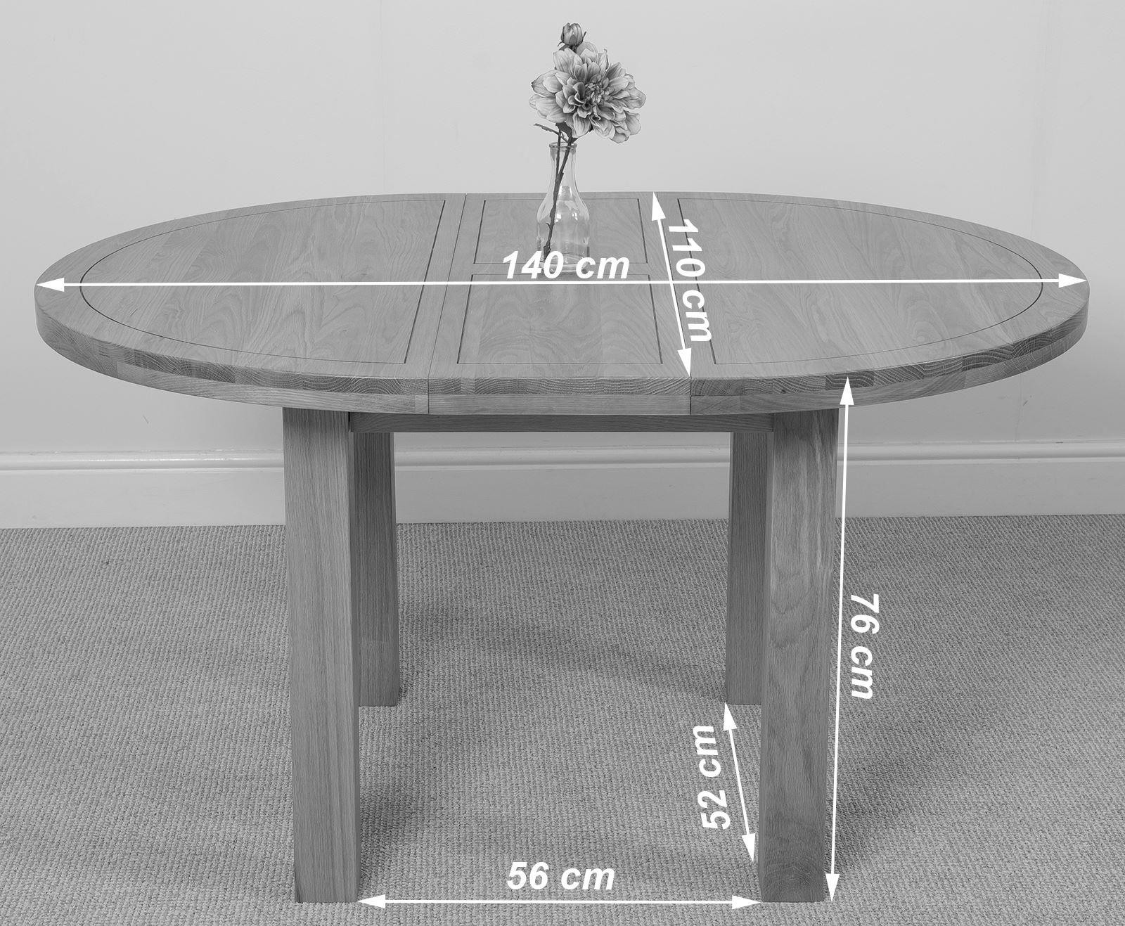 Edmonton Solid Oak Extending Oval Dining Table With 6 Stanford Solid