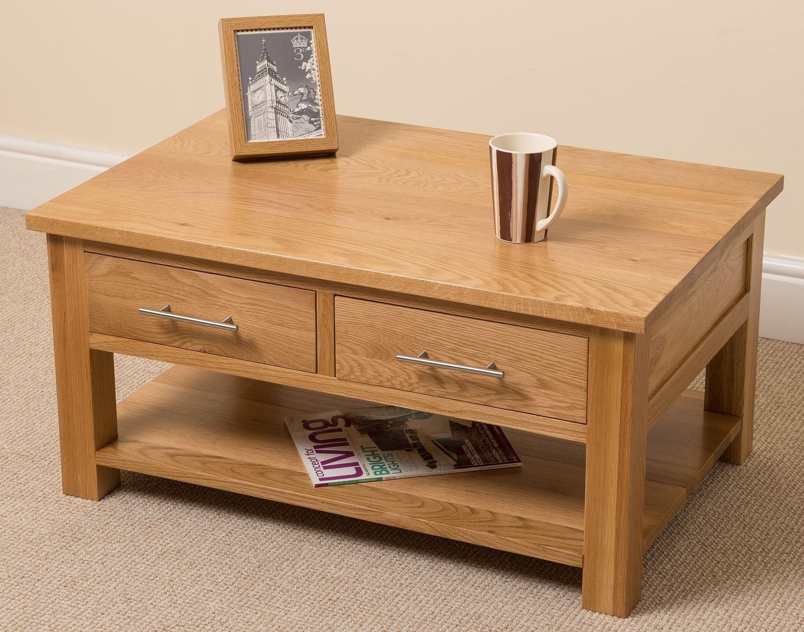 Oslo solid oak coffee table modern furniture direct for Modern furniture direct
