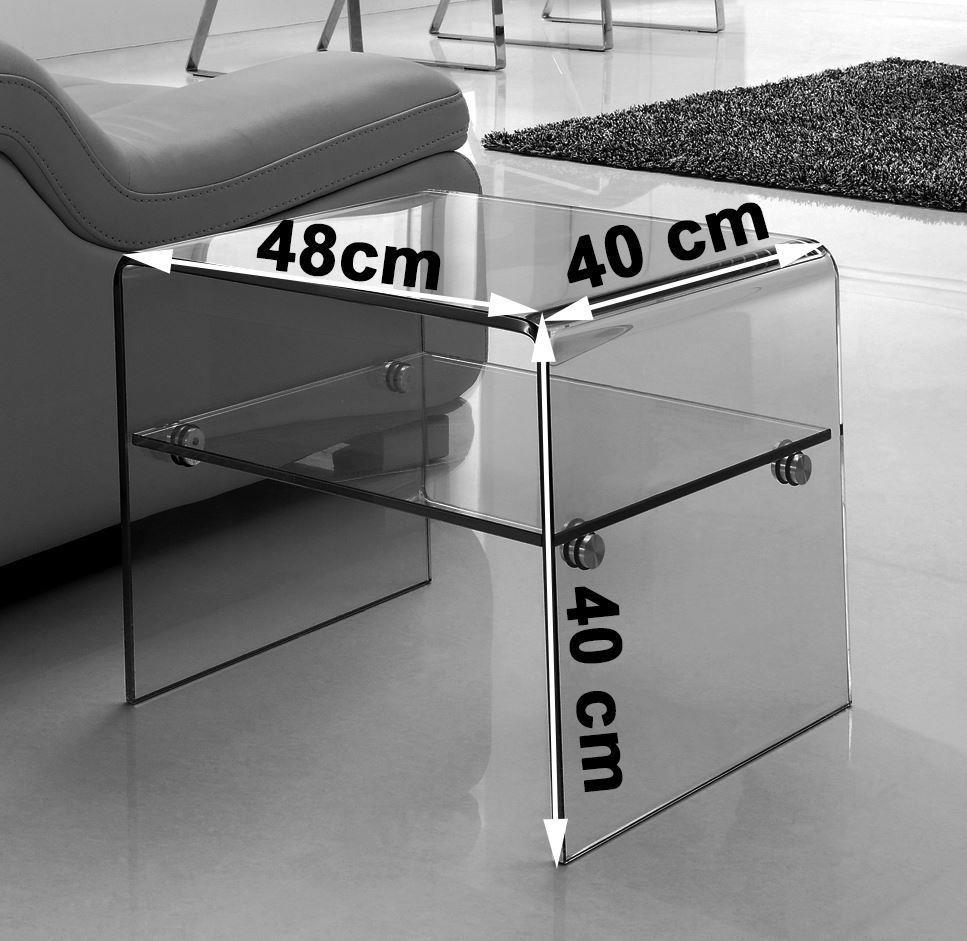 luna side table clear glass modern furniture direct. Black Bedroom Furniture Sets. Home Design Ideas