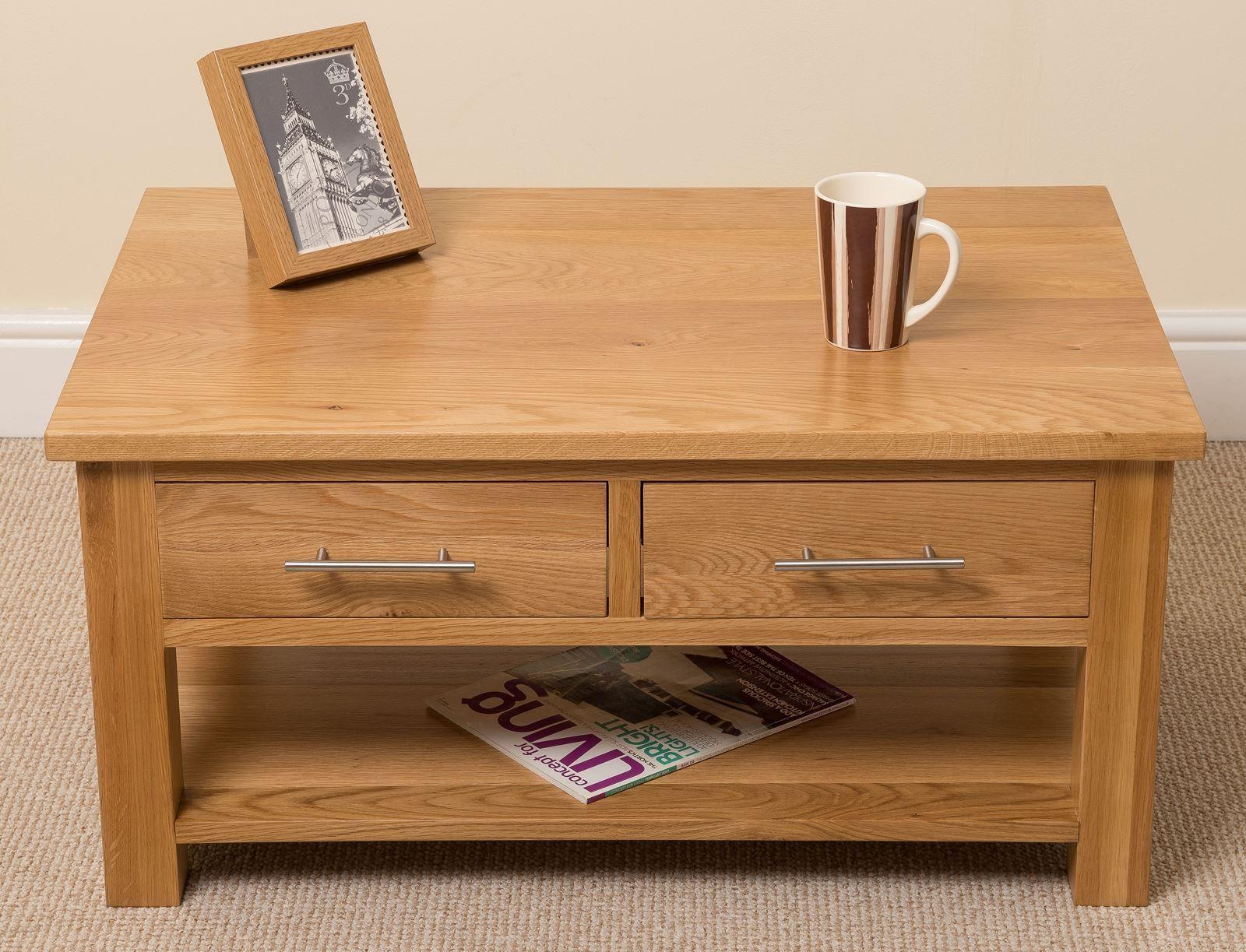 Oslo Solid Oak Coffee Table Modern Furniture Direct