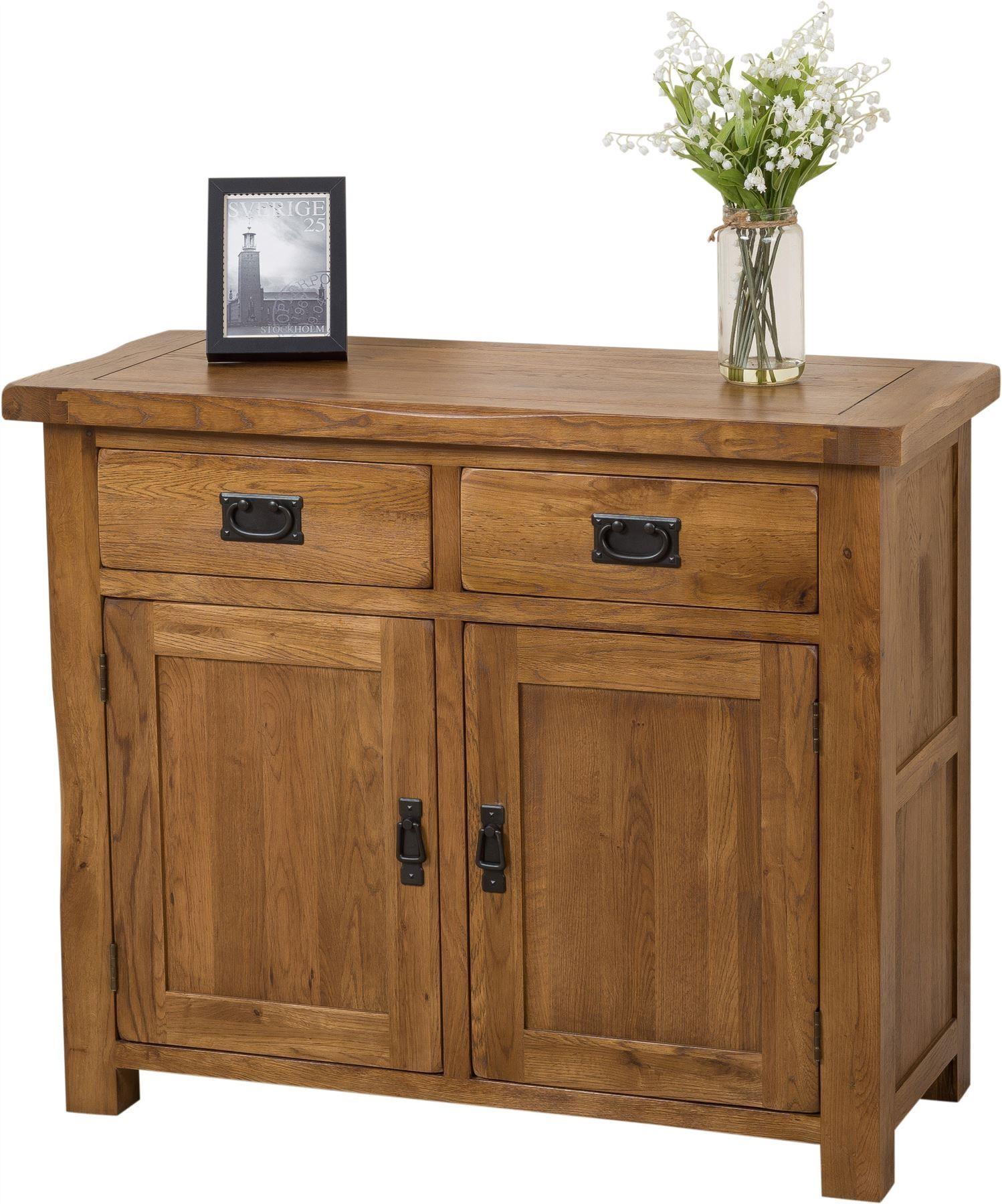 Cotswold rustic small oak sideboard modern furniture direct for Modern furniture direct