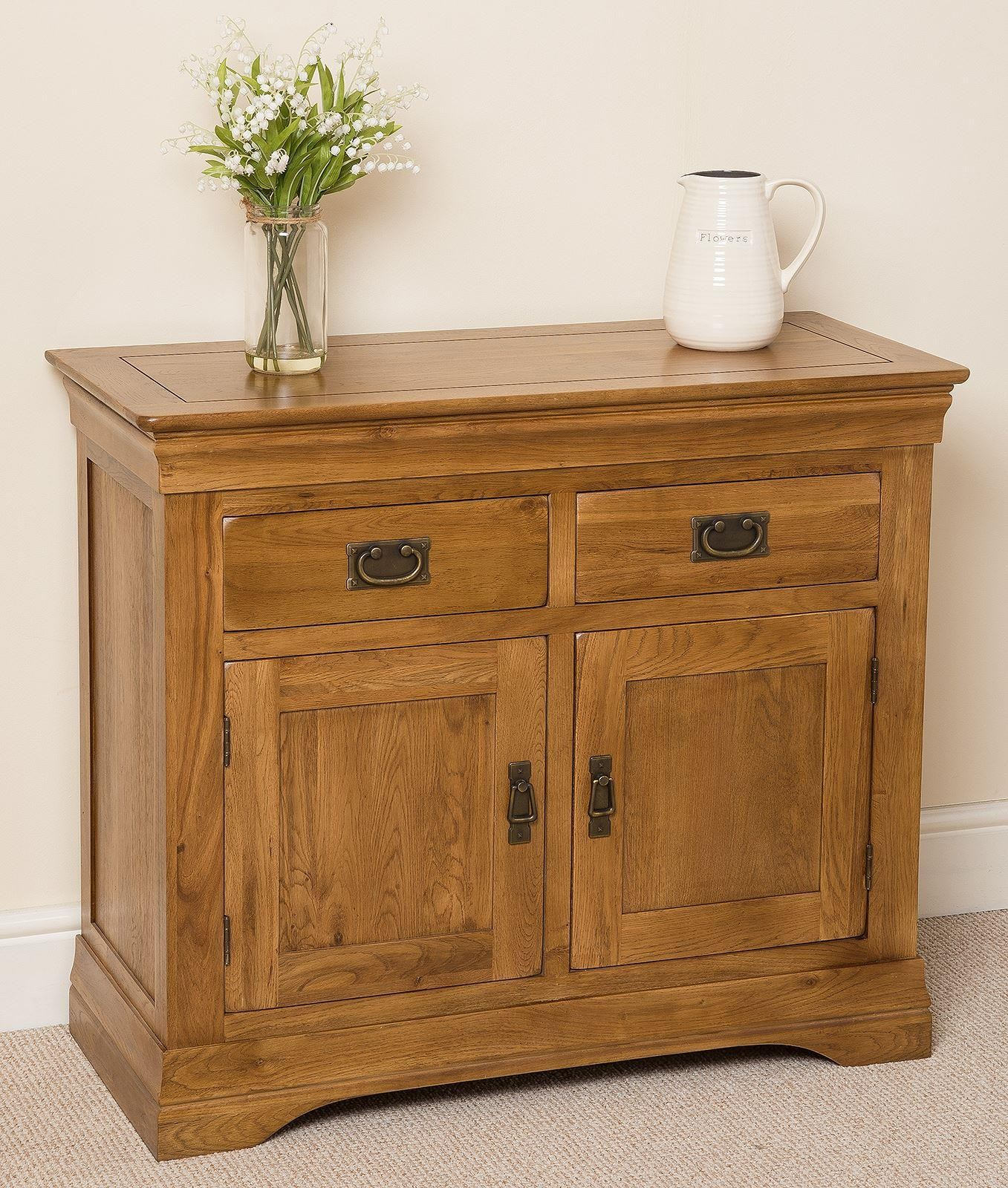 french chateau small oak sideboard modern furniture direct