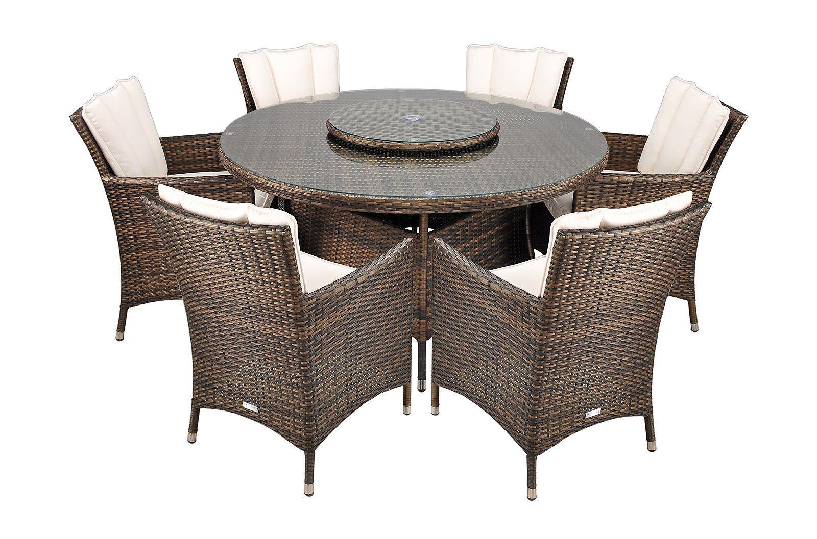Savannah 6 Seat Rattan Garden Furniture Set