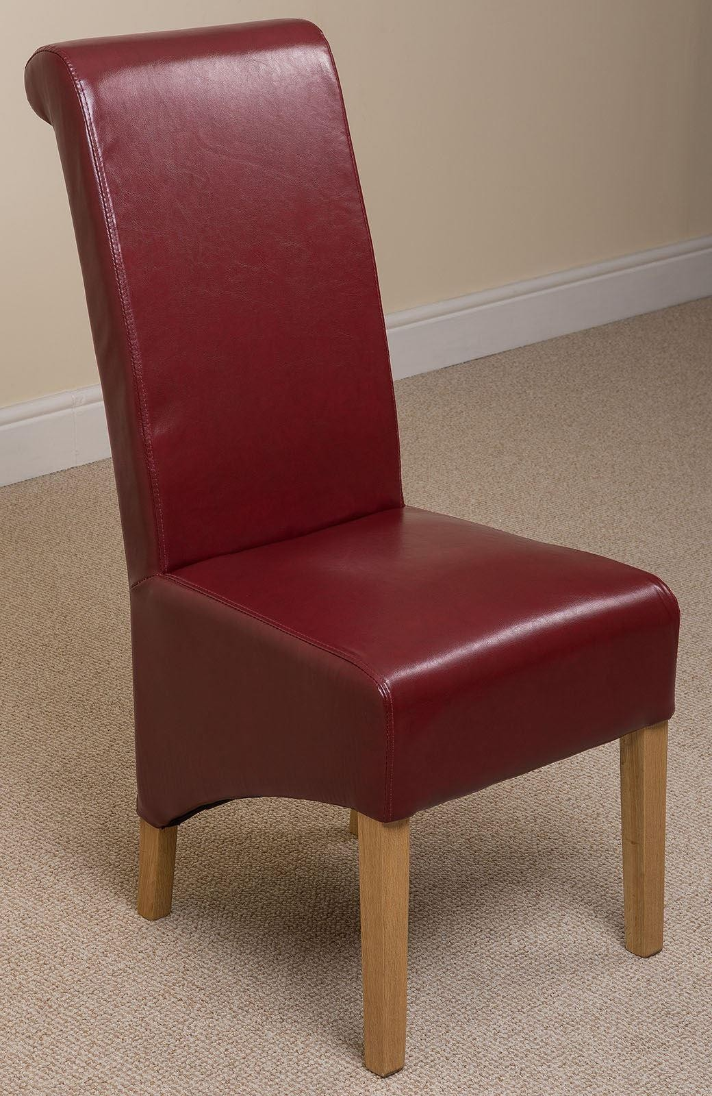 Montana Dining Chair Burgundy Leather Modern Furniture