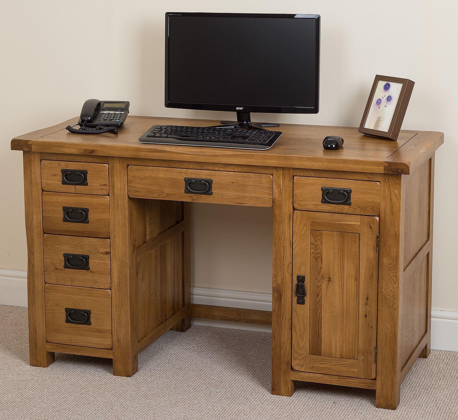 Cotswold Oak Computer Desk I Free UK Delivery