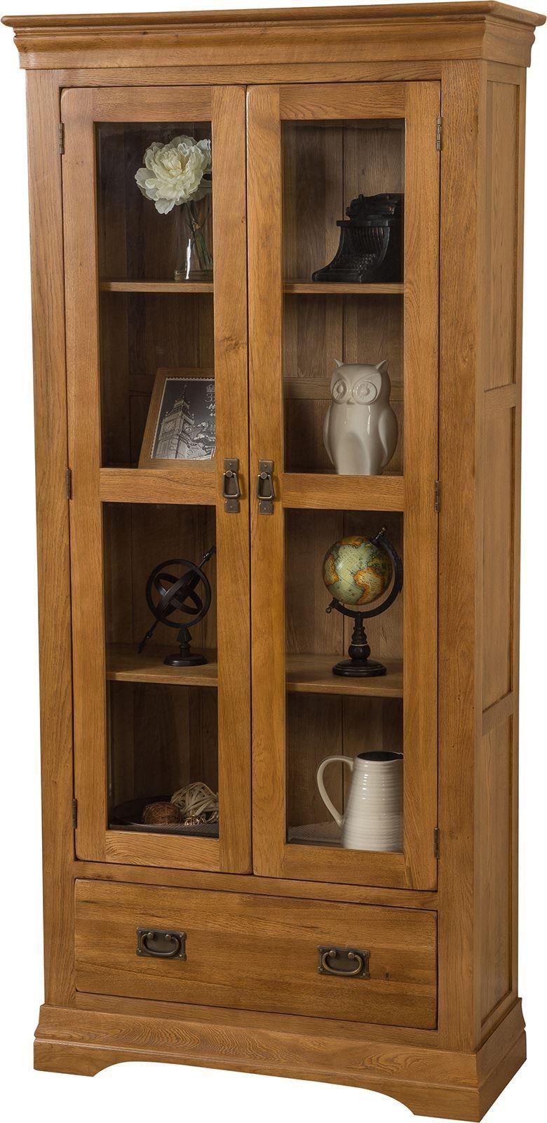French chateau oak display cabinet modern furniture direct for Modern furniture direct