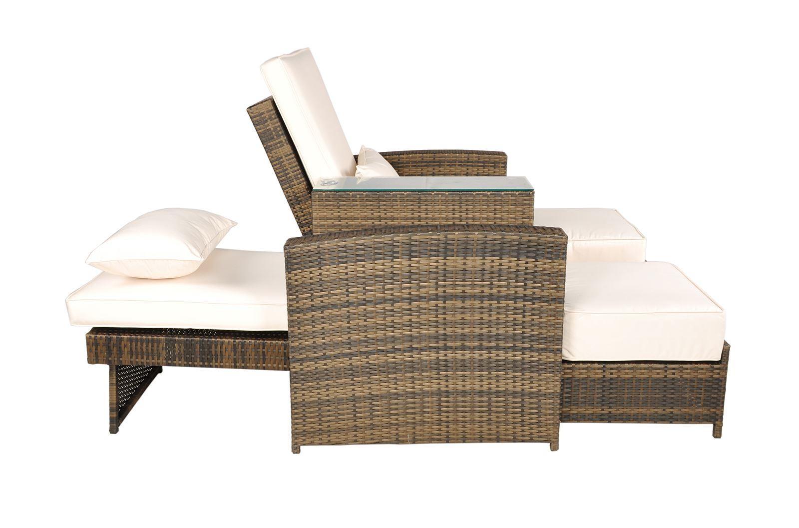 Nevada Garden Furniture 2 Seat Lounger