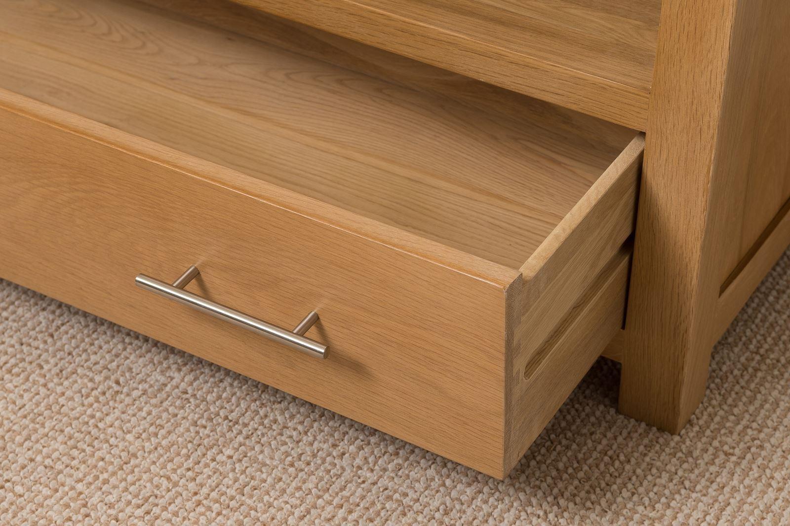 Oslo solid oak tv cabinet small modern furniture direct for Modern furniture direct