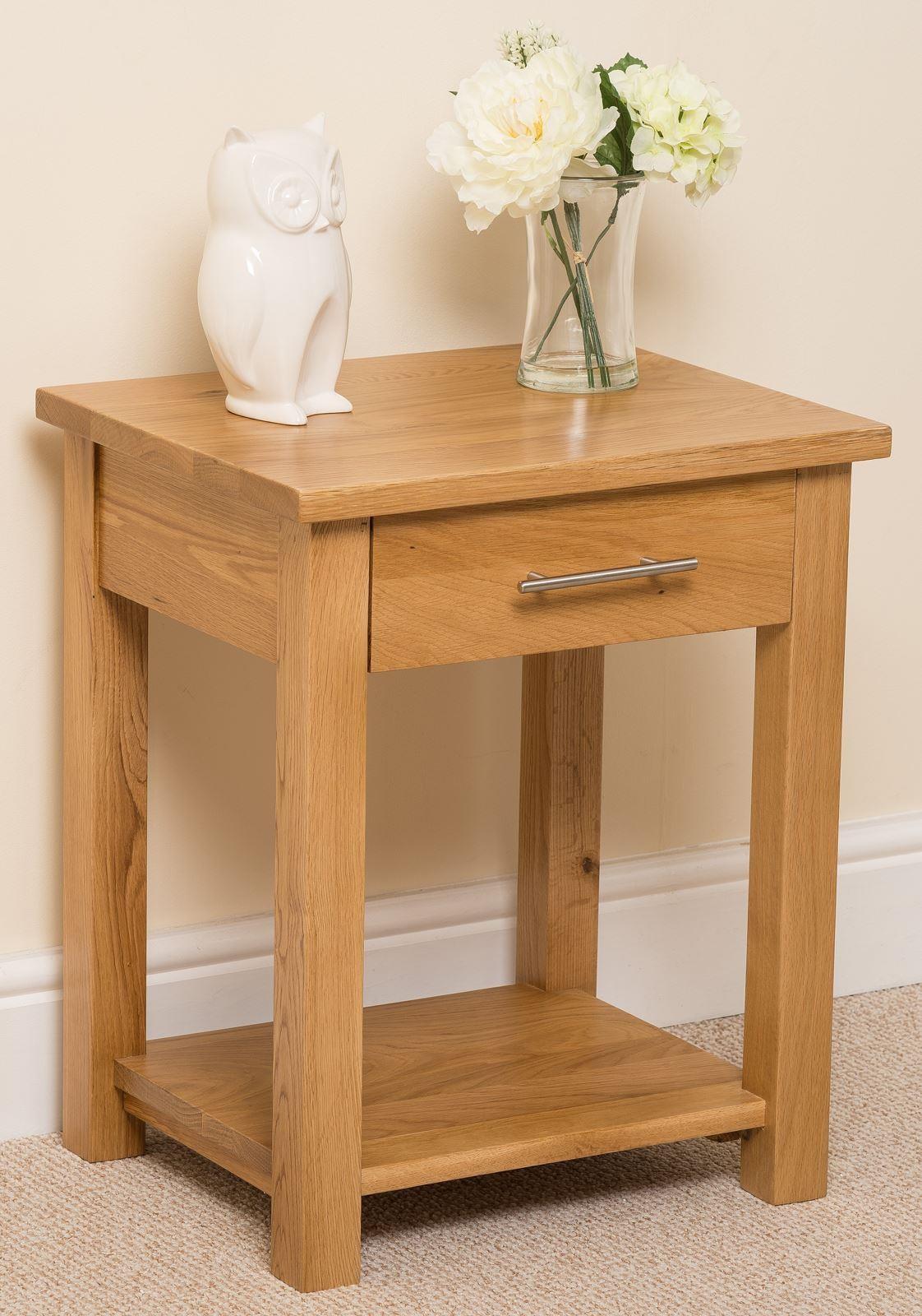oslo solid oak lamp table modern furniture direct. Black Bedroom Furniture Sets. Home Design Ideas