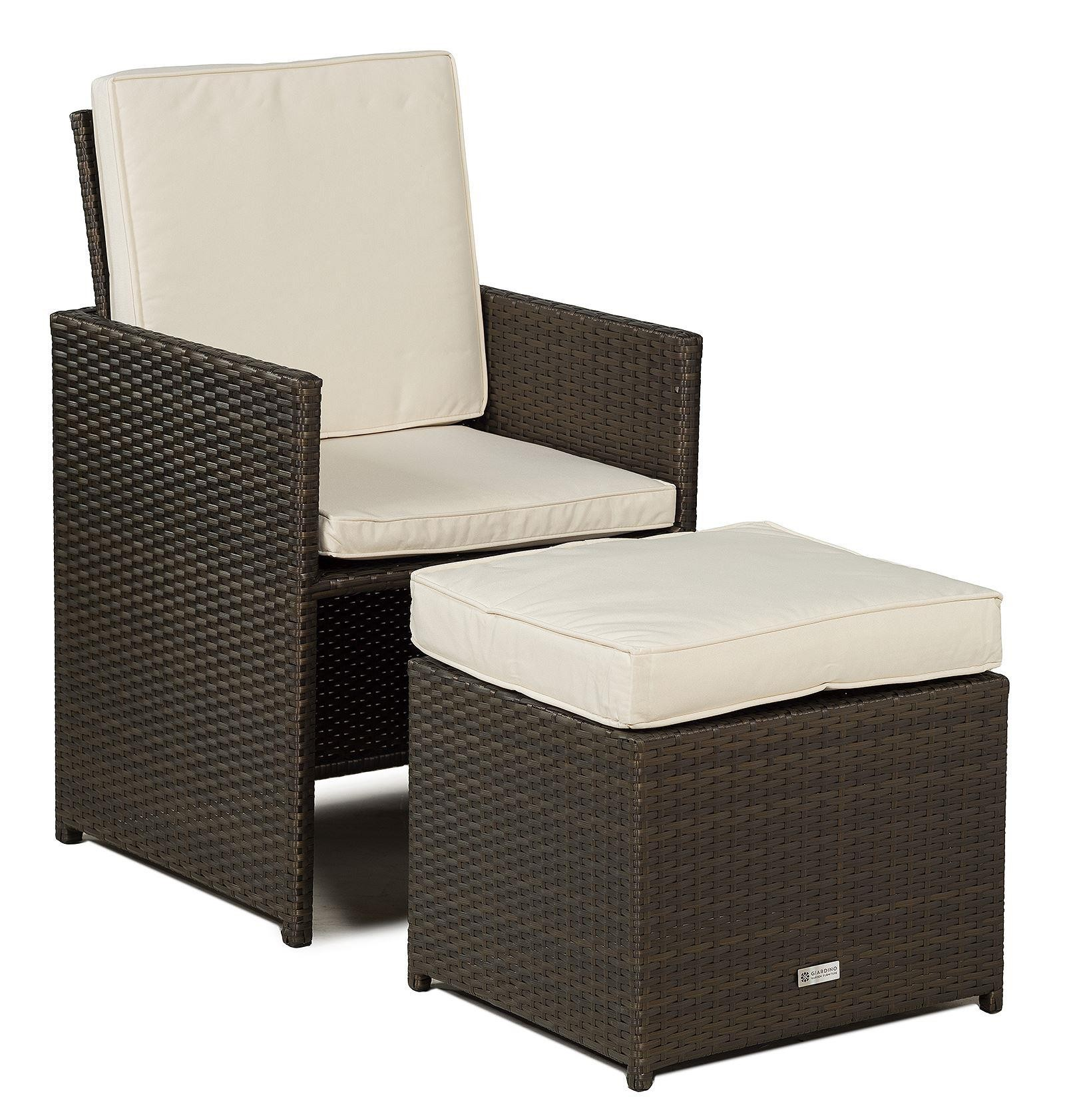 Set Giardino In Rattan.Giardino Rattan Garden Furniture 4 Seat Cube Dining Set
