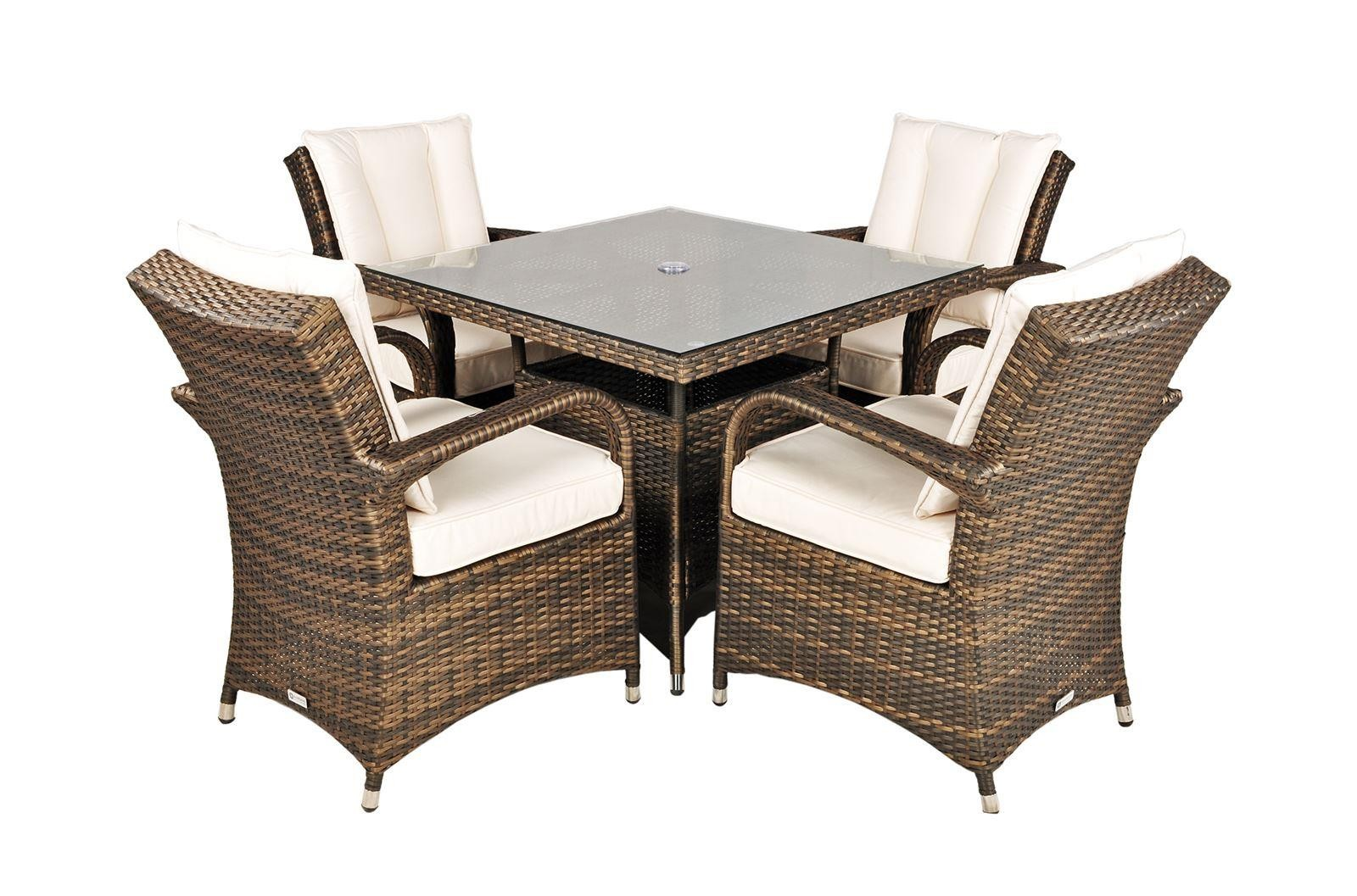 Side of Arizona Rattan [4 Seat Dining Set with Square Table]