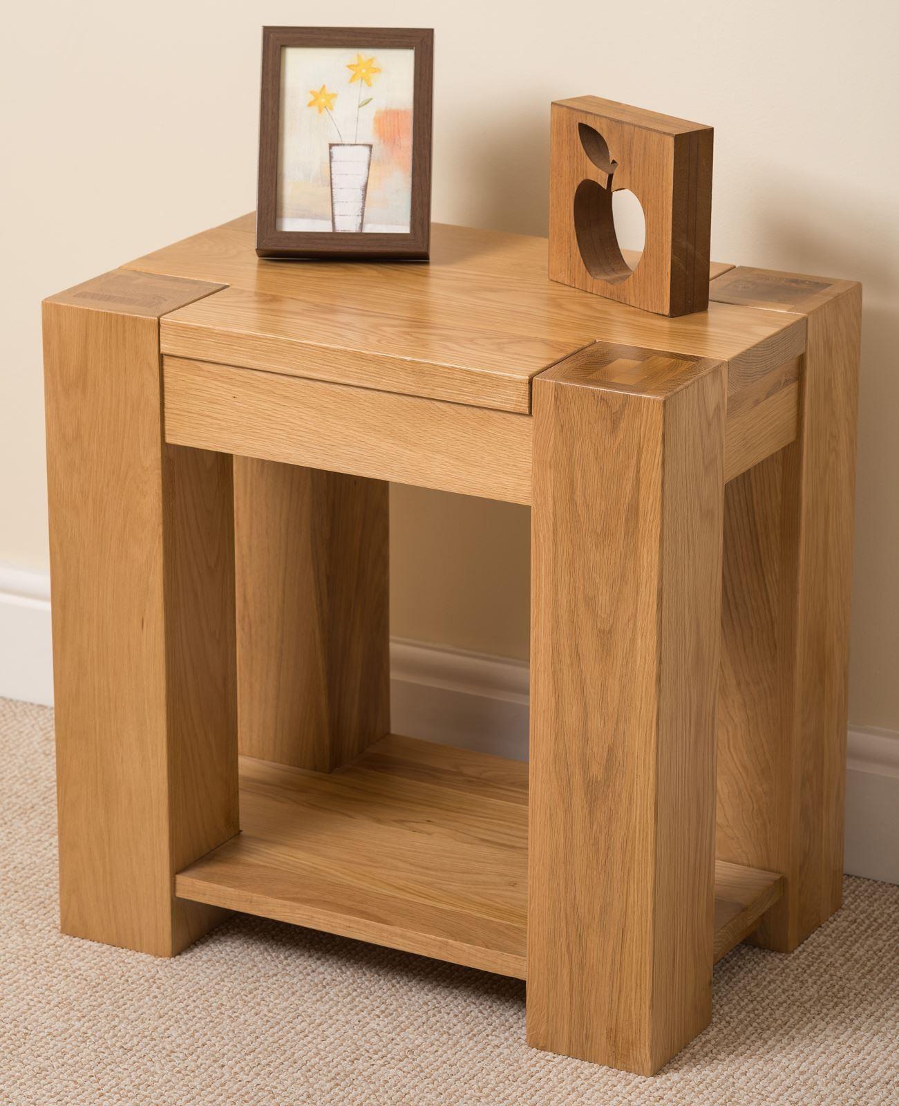 Kuba solid oak lamp table modern furniture direct for Modern furniture direct