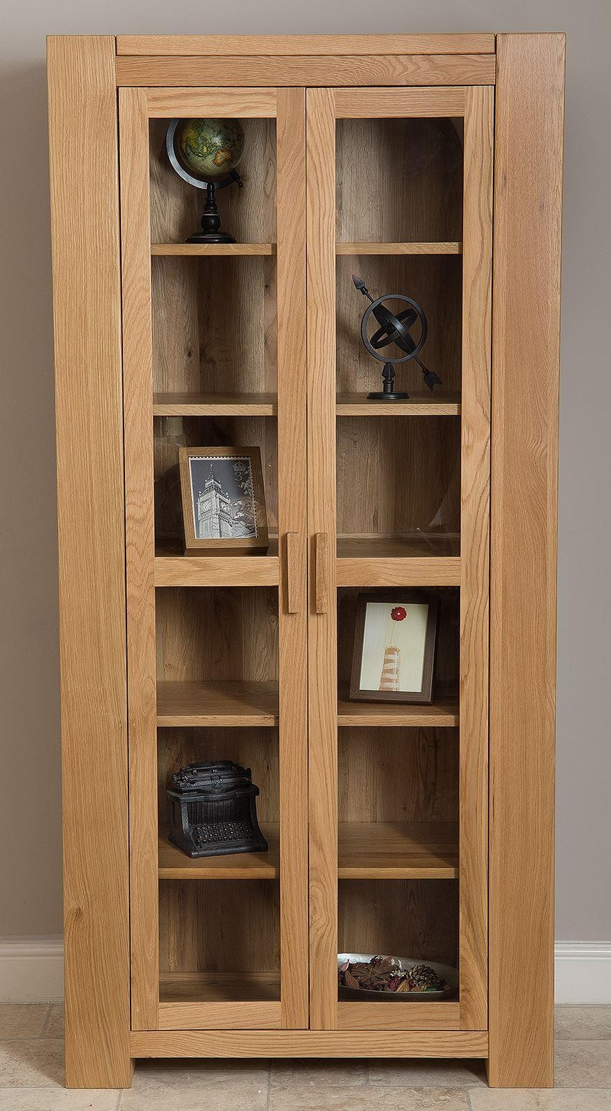 Kuba Solid Oak Glass Display Cabinet