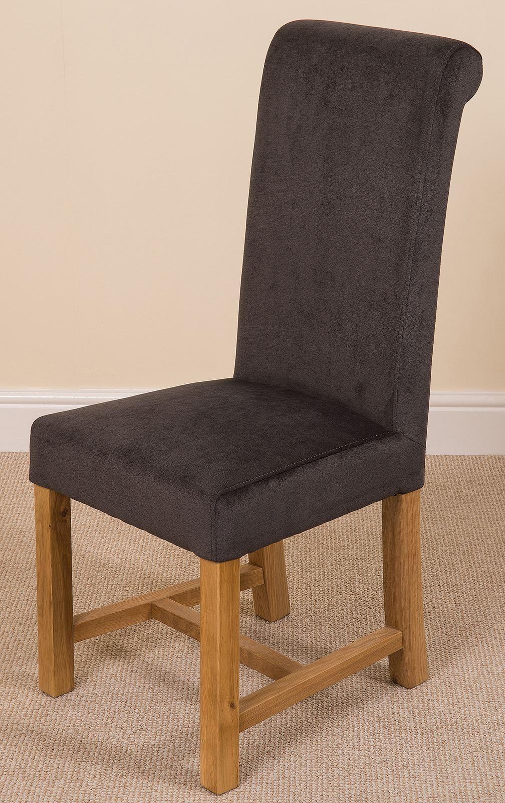 Washington Scroll Top Dining Chair [Black Fabric]