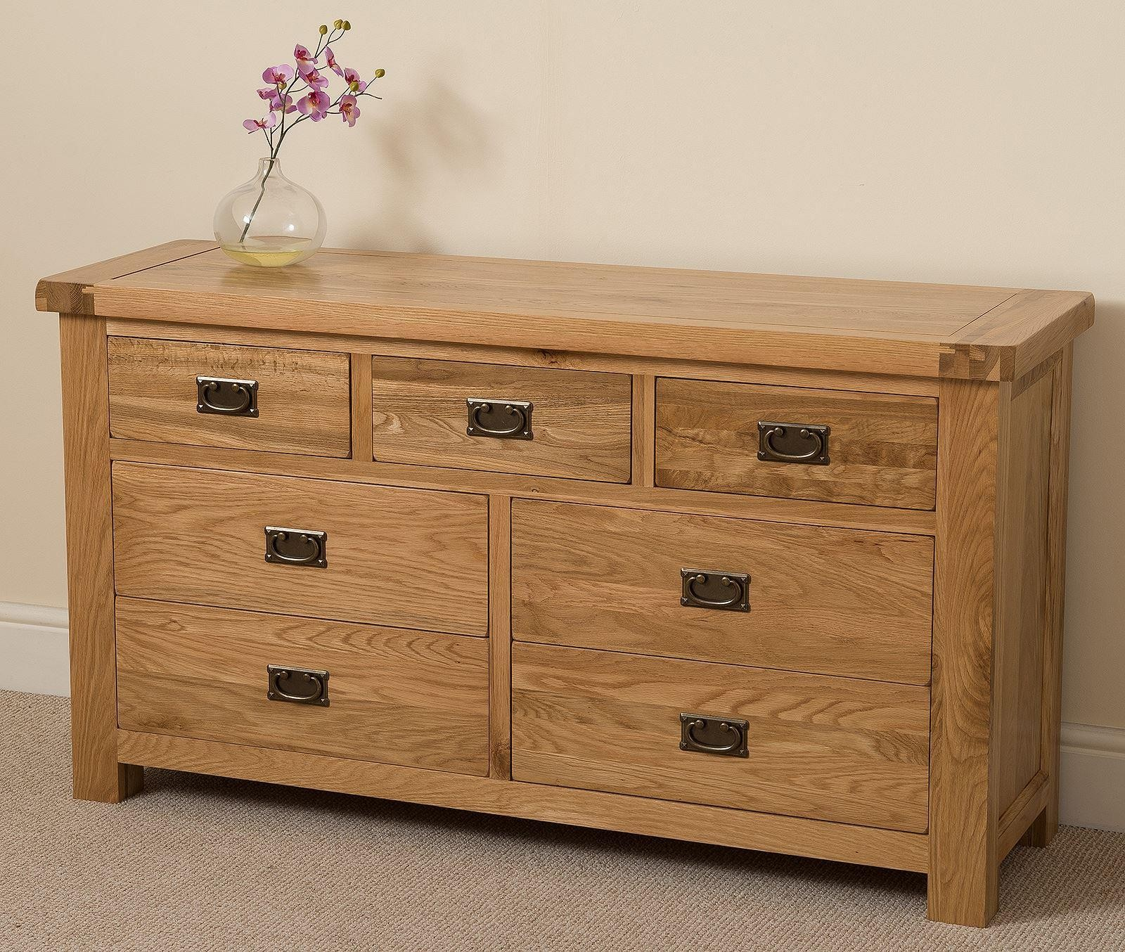Cottage Light Solid Oak Chest of Drawers [3+4 drawer]