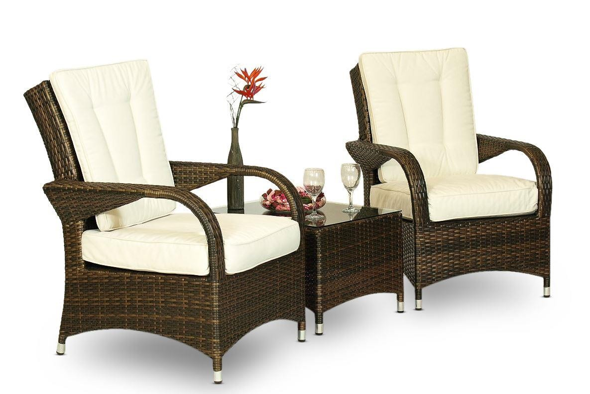 Arizona Rattan Garden Furniture [2 Seat Lounge Set and Coffee Table]