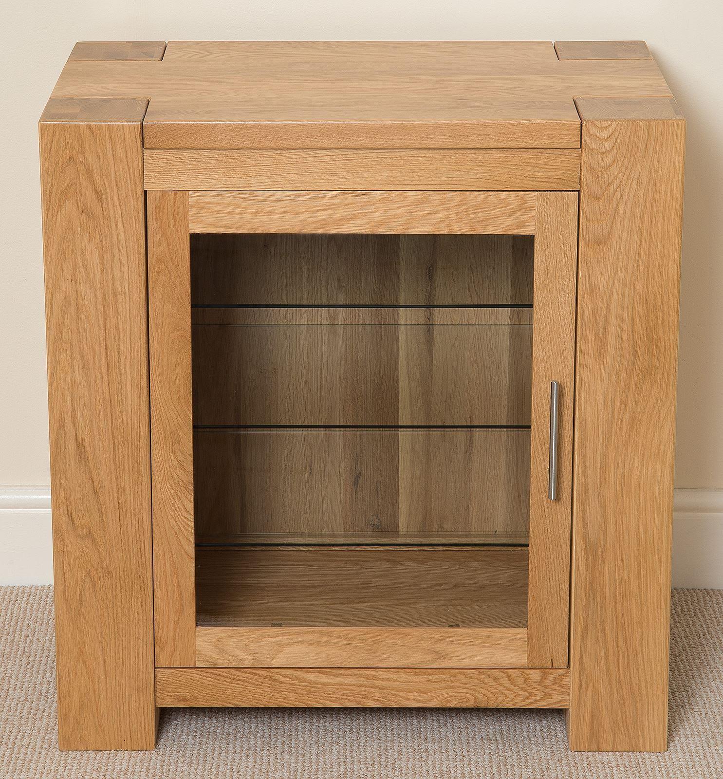 Kuba Solid Oak Hi Fi Media Storage Unit Modern Furniture