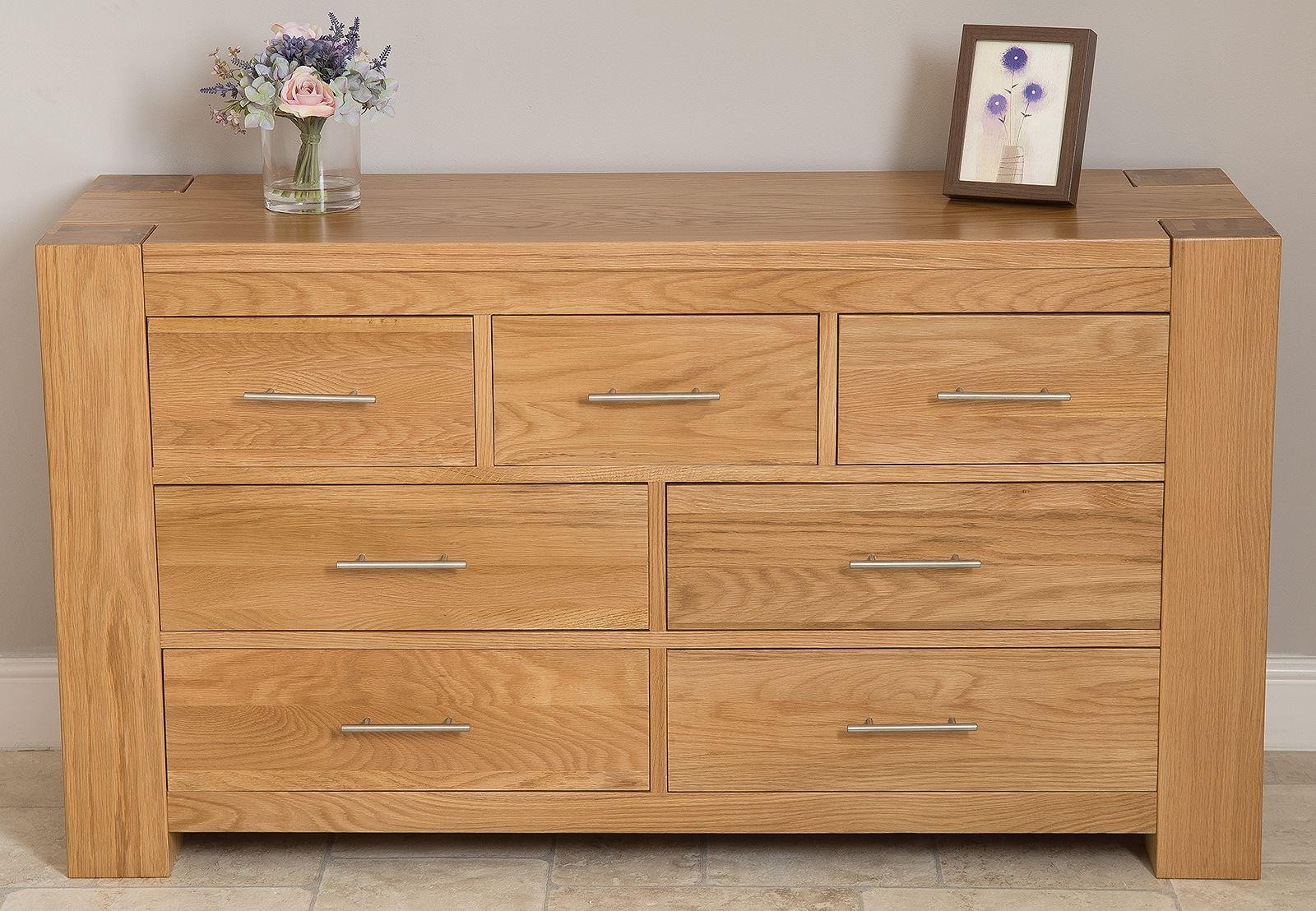 Kuba Solid Oak Chest of Drawers [3+4 drawer]