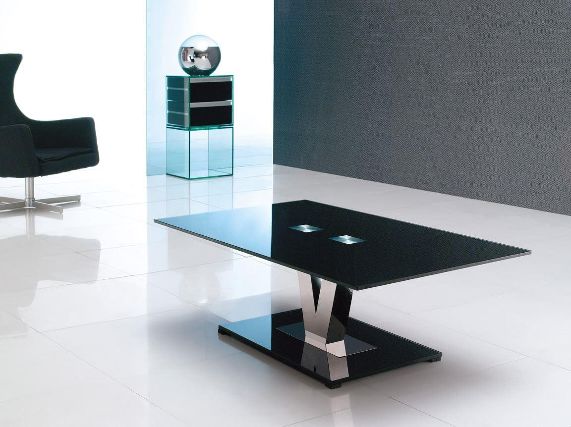 Vidal Designer Glass Coffee Table