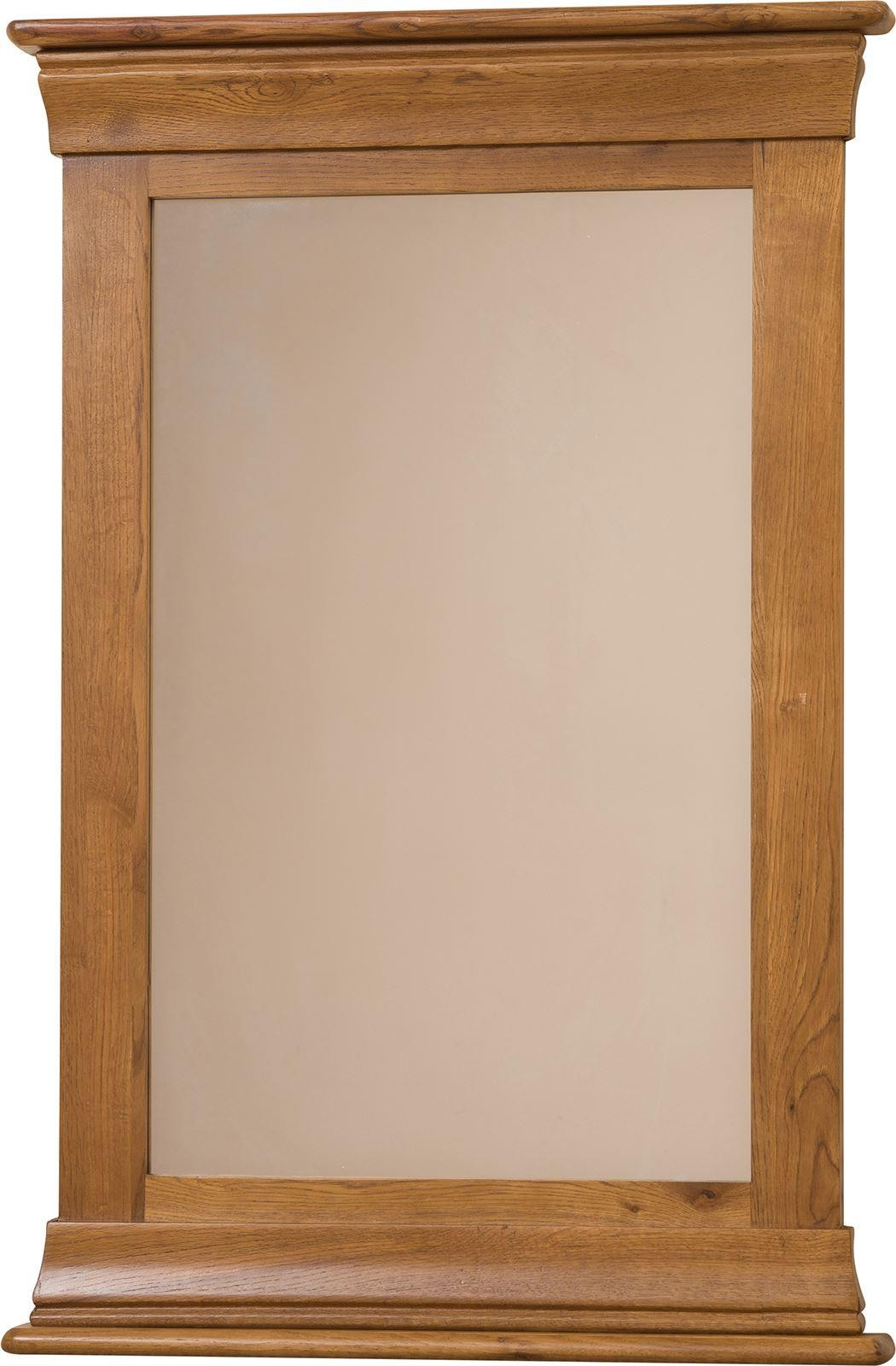 French Chateau Rustic Solid Oak Wall Mirror