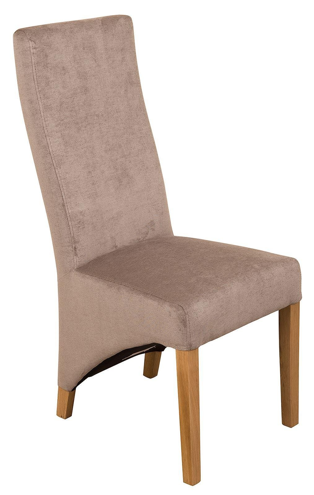 Front of Lola Curved Back Dining Chair [Grey Fabric]