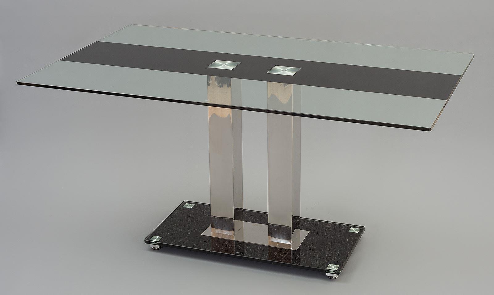 Roma designer glass dining table i modern furniture direct for Designer glass dining table