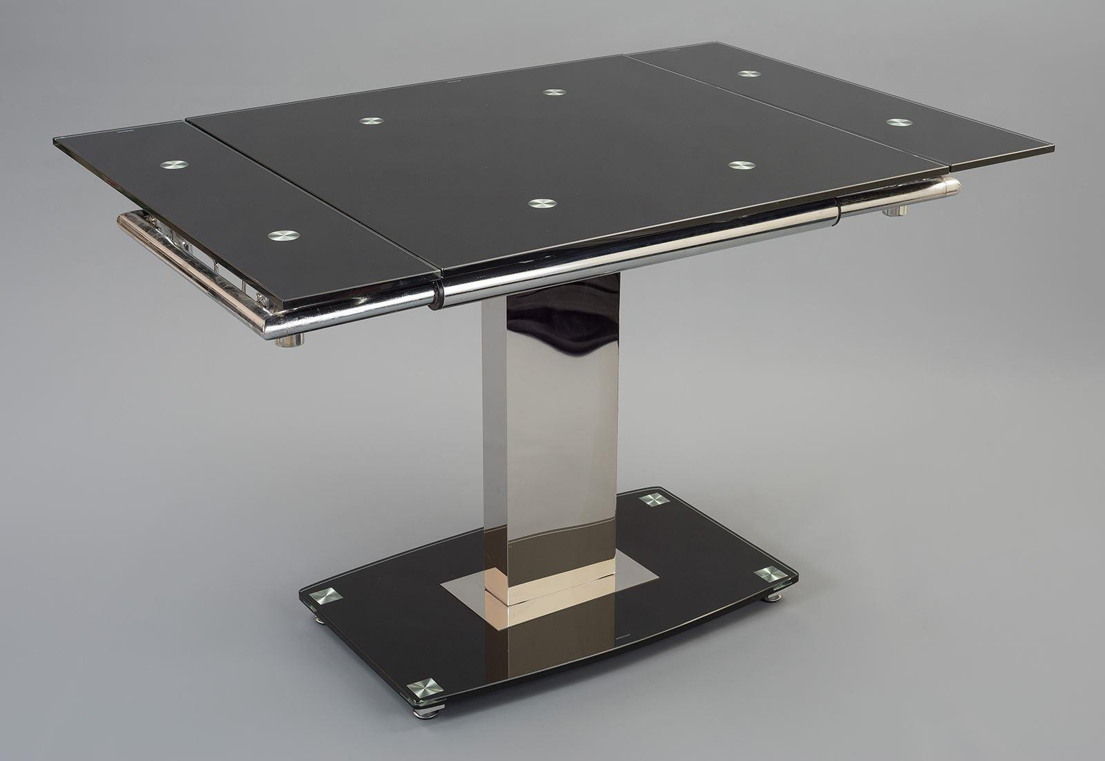 Enzo glass dining table extending modern furniture direct for Modern furniture direct