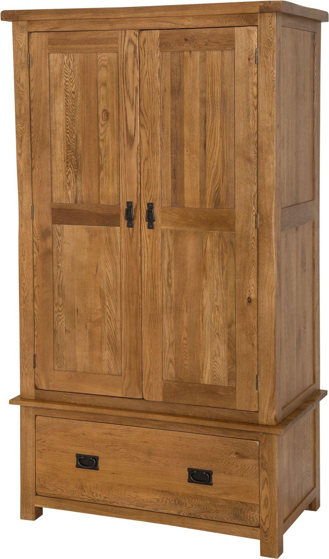 Cotswold Rustic Solid Oak Double Wardrobe