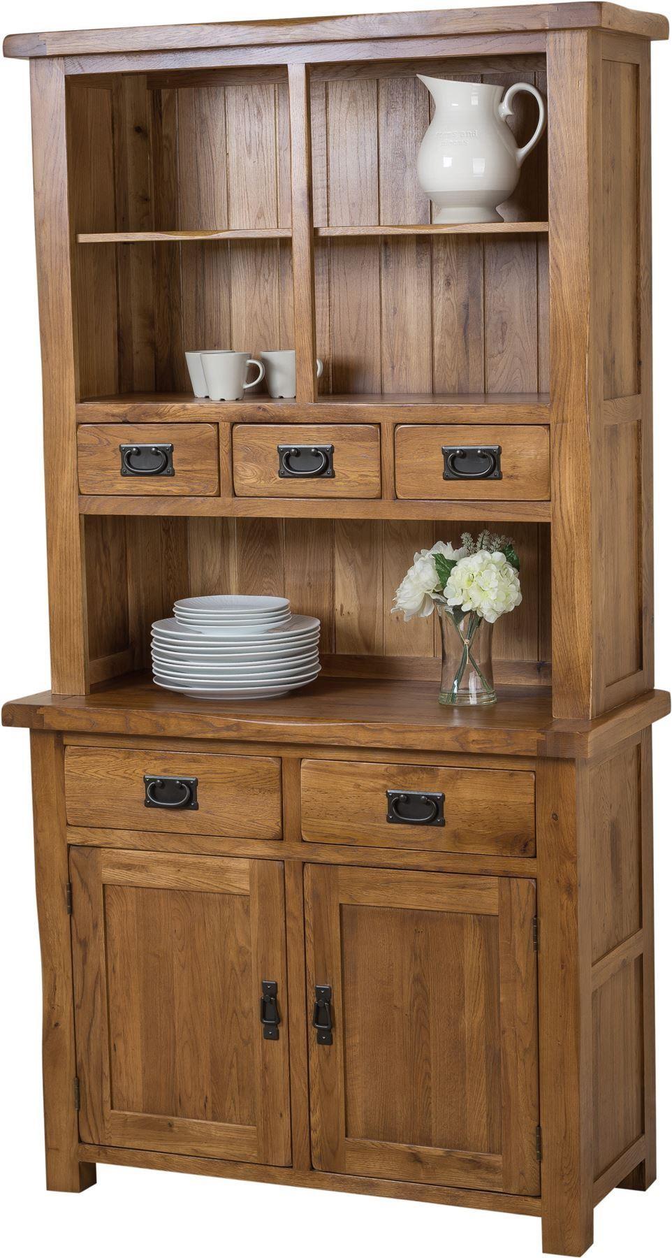 Cotswold Rustic Solid Oak Small Welsh Dresser