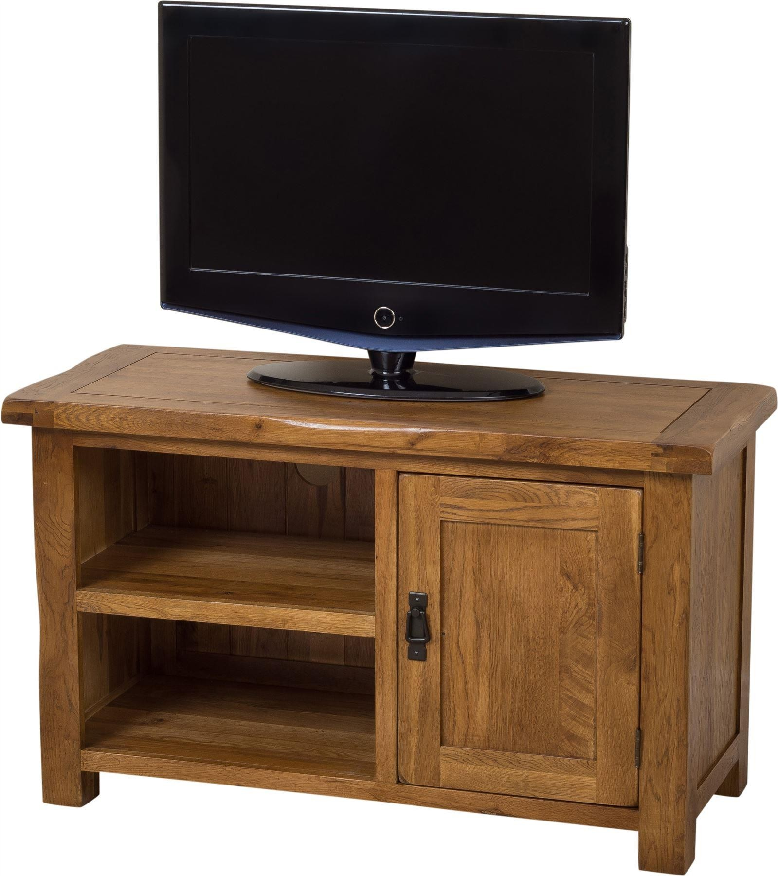 Cotswold Rustic Solid Oak TV and DVD Cabinet