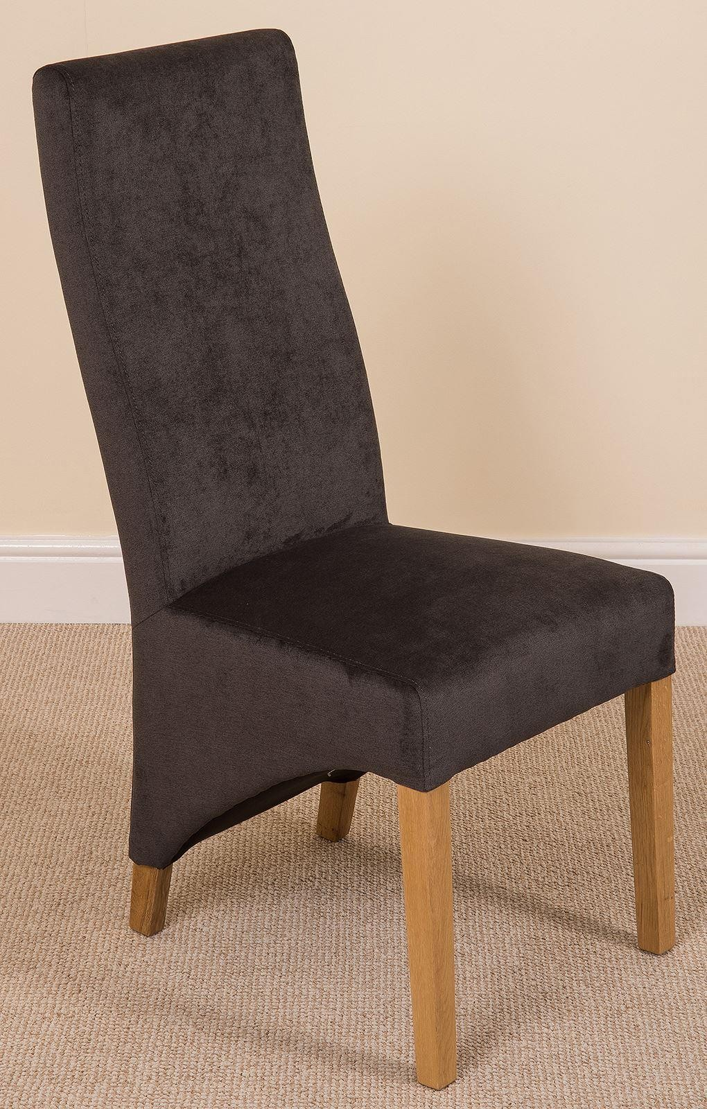 Left Side Of Lola Curved Back Dining Chair [Black Fabric]