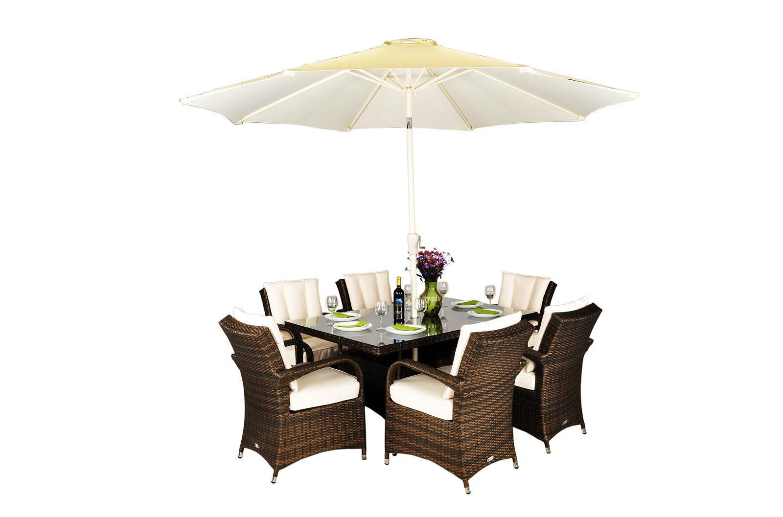 arizona 6 seat garden furniture dining set oak furniture king