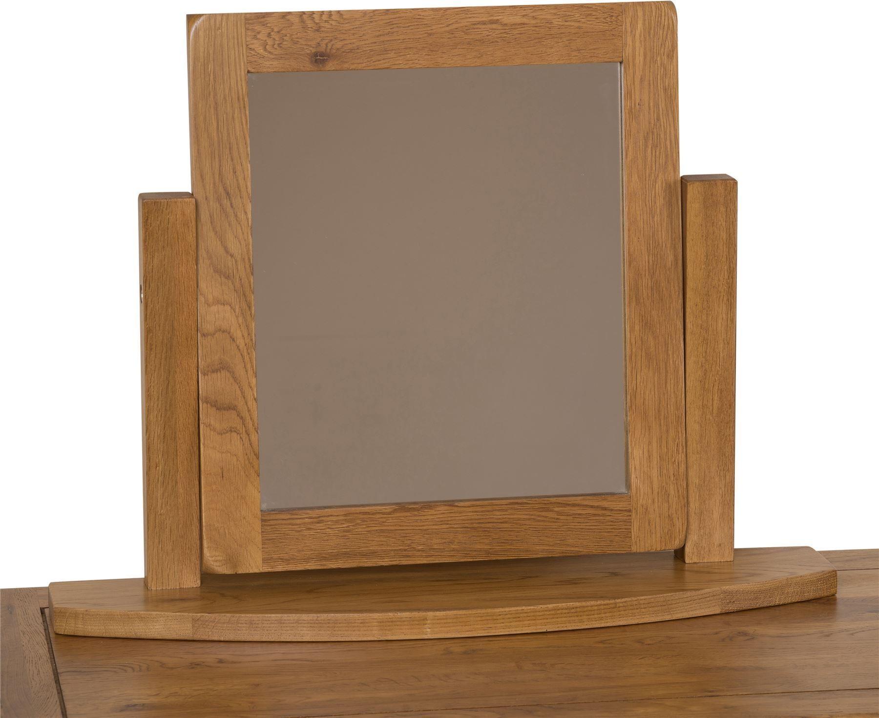 Cotswold Rustic Solid Oak Swivel Mirror