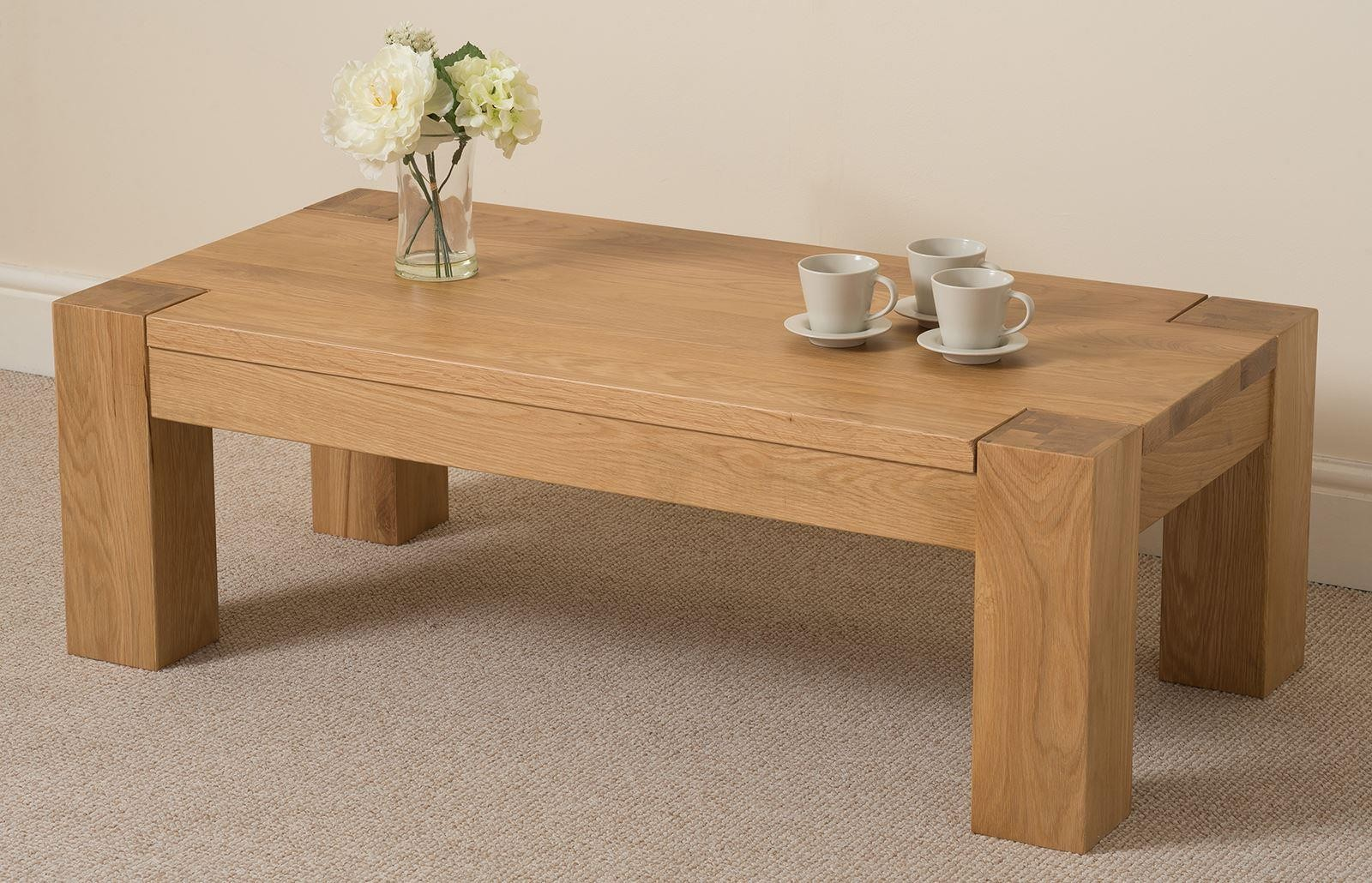 Kuba Oak Large Coffee Table Free UK Delivery