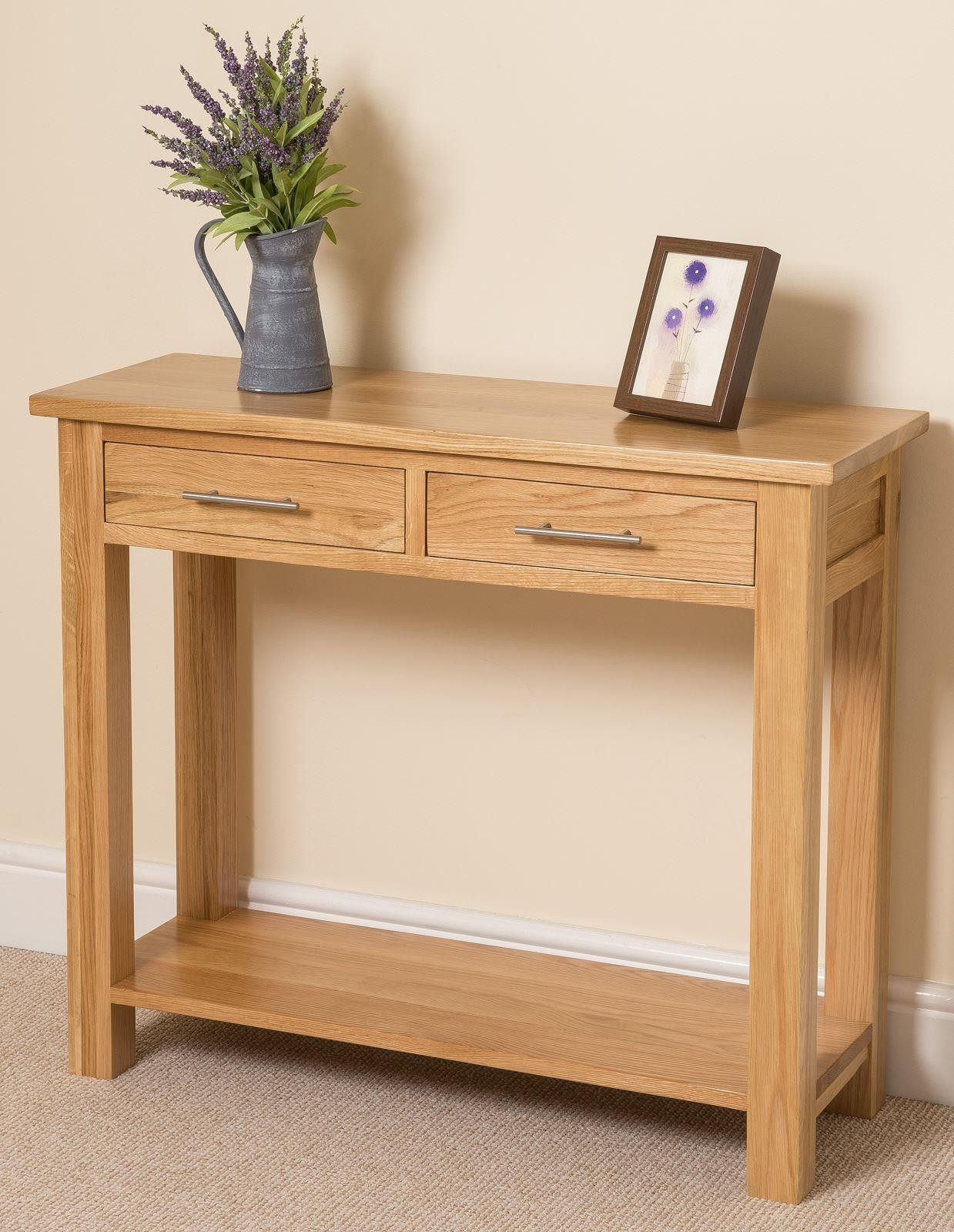 sports shoes 4aa32 80d56 Oslo Solid Oak Console Table | Modern Furniture Direct