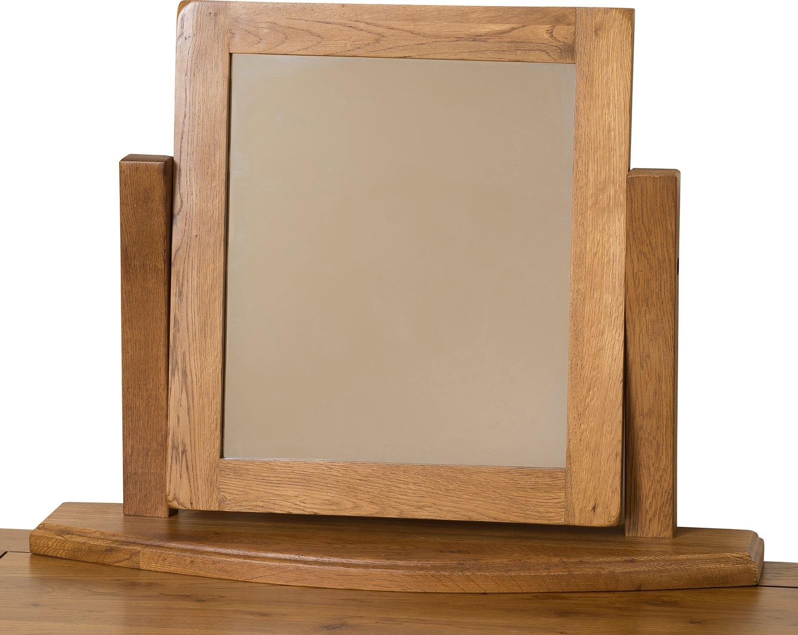 French Chateau Rustic Solid Oak Dressing Table Mirror