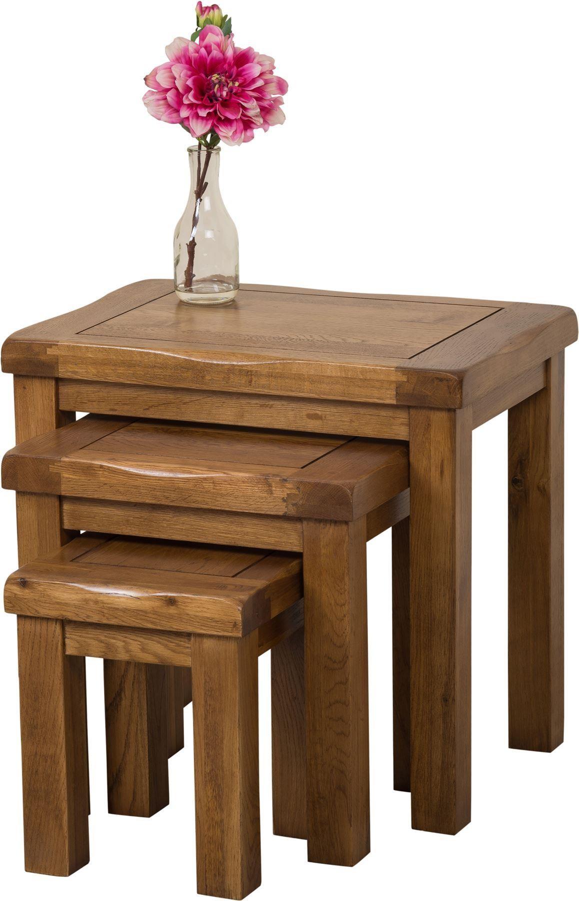 cotswold oak nest of 3 tables modern furniture direct. Black Bedroom Furniture Sets. Home Design Ideas