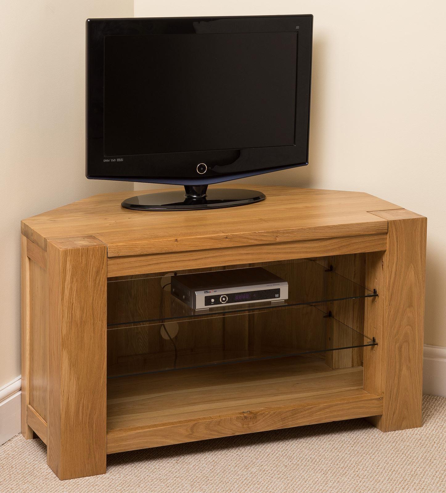 Kuba Solid Oak TV Corner Cabinet