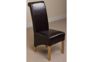 Montana Dining Chair [Brown Leather]
