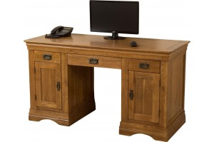 French Chateau Rustic Solid Oak Computer Desk