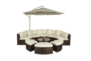 Monaco Rattan Garden Furniture [Semi Circle Sofa Set]