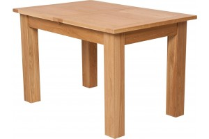Hampton Solid Oak 120-160cm Extending Dining Table