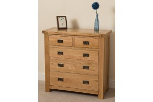 Cottage Light Solid Oak Chest of Drawers [2+3 drawer]