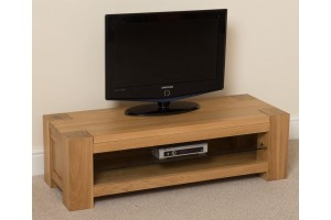 Kuba Solid Oak Widescreen TV Cabinet [Small]