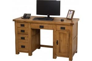 Cotswold Rustic Solid Oak Computer Desk