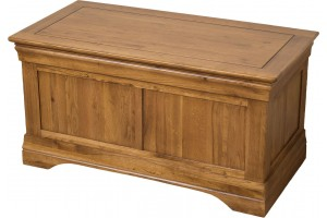 French Chateau Rustic Solid Oak Blanket Box